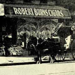 Bildausschnitt mit der Werbung für Robert Burns Cigars, 1898.