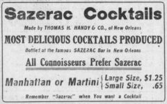 Sazerac Cocktails. Omaha Daily Bee, 30. Dezember 1911, News Section, Seite 5.