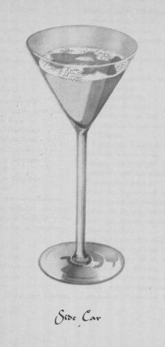 Side Car. Wilhelm Stürmer. Cocktails by William Stürmer. Seite 112f.
