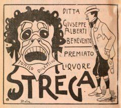 Strega-Werbung aus dem Jahr 1902.