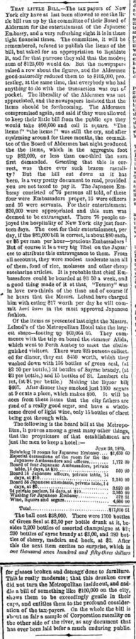 That little Bill, The Brooklyn Daily Eagle, 18. Dezember 1860, Seite 2.