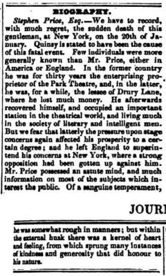 The Literary Gazette, 15. Februar 1840. Seite 108-109.