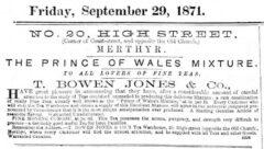 The Merthyr Telegraph, 29. September 1871, Seite 2.