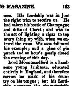 The Sporting Magazine, Vol. 21, No. 123, Dezember 1827, Seite 133.