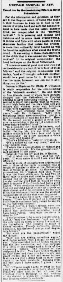 The Sun, New York, 27. Juni 1901, Seite 6 Sidewalk Cocktail is New.