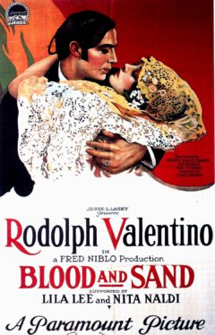 """Werbeplakat für den Film """"Blood and Sand"""" aus dem Jahr 1922."""
