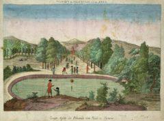 Zweyte Ansicht der Promenade vom Baad zu Pyrmont, um 1780.