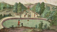 Zweyte Ansicht der Promenadevom Baad zu Pyrmont, um 1780 - Titelbild.
