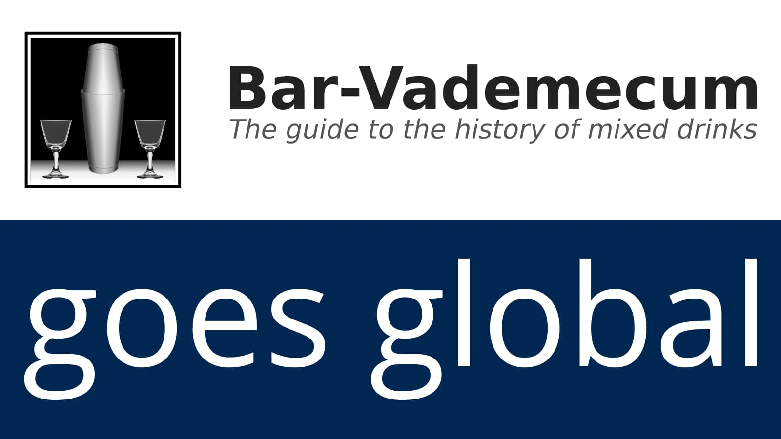 Bar-Vademecum goes global