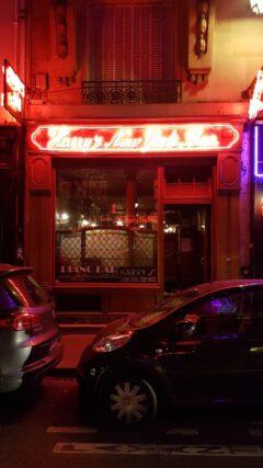 Harry's New York Bar in Paris.