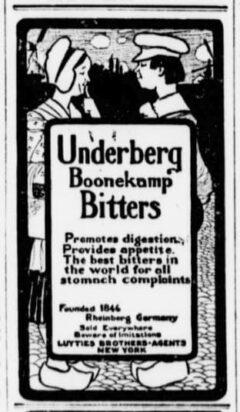 Underberg. 22. April 1902, The Sun, Seite 2.