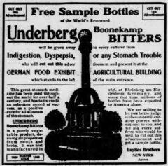 Underberg. 28. September 1904, The St. Louis Republik, Seite 4.