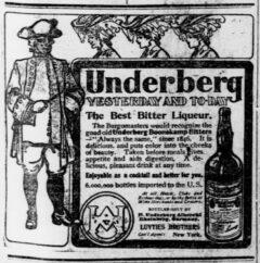Underberg. 15. April 1905, The Pensacola Journal, Seite 5.