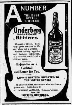 Underberg. 12. September 1905, The Sun, Seite 4.