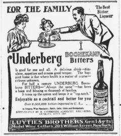 Underberg. 17. April 1906, The Sun, Seite 5.
