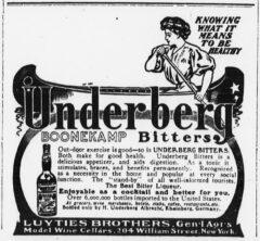 Underberg. 12. Juni 1906, The Sun, Seite 10.