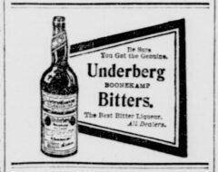 Underberg. 4. September 1906, New York Tribune, Seite 9.