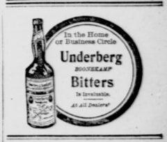 Underberg. 15. September 1906, New York Tribune, Seite 3.