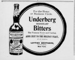 Underberg. 15. November 1906, New-York Tribune, Seite 14.