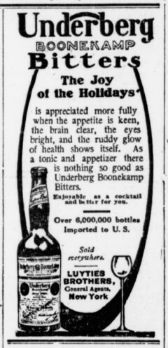 Underberg. 27. November 1906, The Sun, Seite 12.