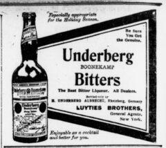 Underberg. 27. Dezember 1906, The Sun, Seite 8.