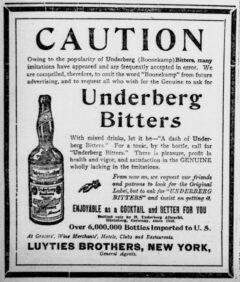 Underberg. 2. Januar 1907, New-York Tribune, Seite 4.
