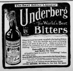 Underberg. 16. September 1907, New-York Tribune, Seite 3.