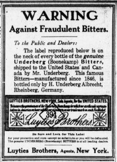 Underberg. 28. Mai 1909, The Sun, Seite 6.