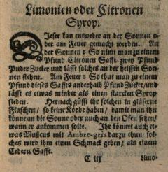 Nicolas de Bonnefons: Der Französische Confitierer. 1665. Seite 53.