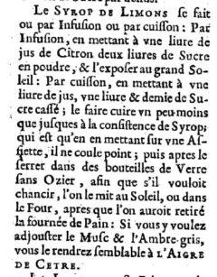 Nicolas de Bonnefons: Le iardenier françois. 1651. Seite 312.