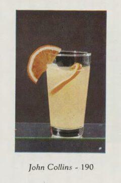 Marcel et Roger Luc: Cocktails et grand crus. 1953. Seite 68. John Collins Cocktail.
