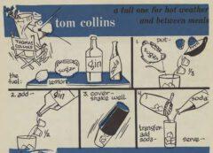 Robert H. Loeb: Nip Ahoy. 1954. Seite 28. Tom Collins.