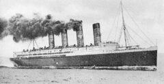 RMS Lusitania im Jahr 1907.
