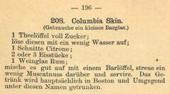 Harry Johnson: Neues und Verbessertes Illustriertes Handbuch für Bartender. 1888, Seite 196.