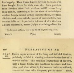 John Gabriel Stedtmann: Narrative, of a five years' expedition ... . London, 1796, Seite 295-296.