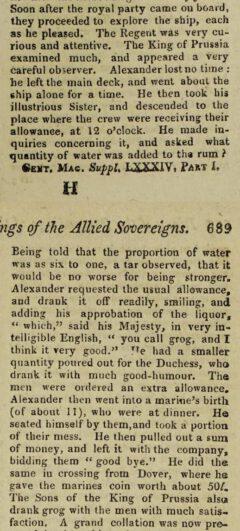 The Gentleman's Magazine. Vol. 84, Teil 1. London, 1814, Seite 689.
